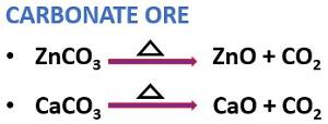 calcination of carbonate ore