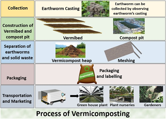Process of vermicomposting