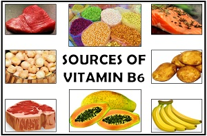 Food sources of vitamin B6