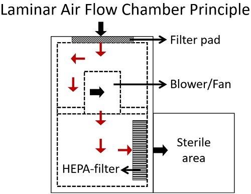 laminar air flow chamber principle